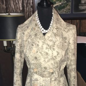 Ann Taylor Floral Structured Trench Coat